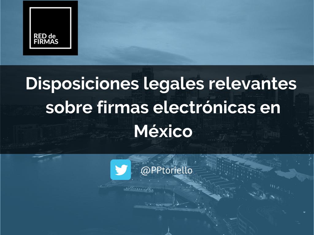 leyes firma electronica